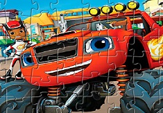 PUZZLE CU BLAZE AND THE MONSTER MACHINES