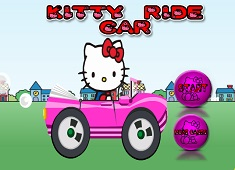 HELLO KITTY CU MASINA