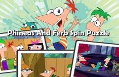 PHINEAS SI FERB PUZZLE ROTATIV