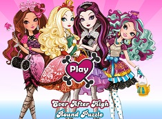 EVER AFTER HIGH PUZZLE ROTUND