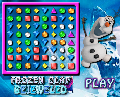giochi bejeweled con Olaf Frozen